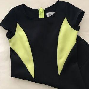 Girls' black & green dress
